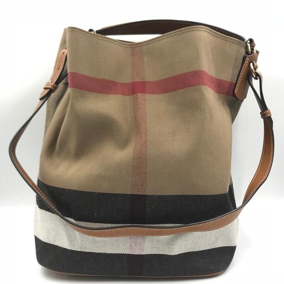 Burberry Handbags - Burberry Shoulder Leather Fabric Bucket Ladies Bag 821ef986ee2d0